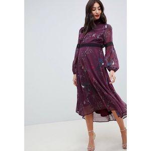 ASOS HOPE & IVY | Floral Crochet Maternity Dress